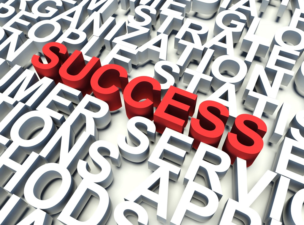 List of key service words including success