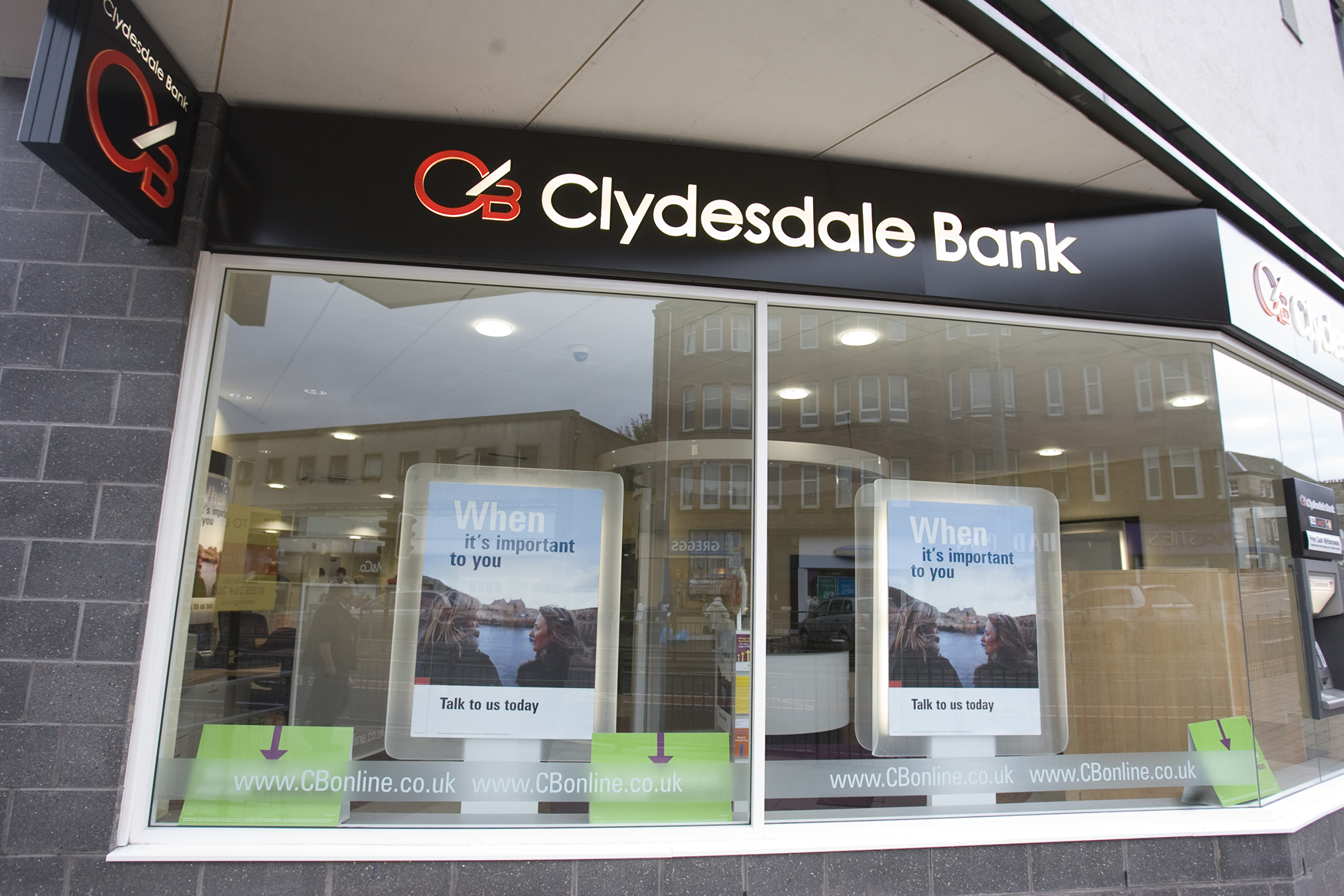 Clydesdale Bank shopfront