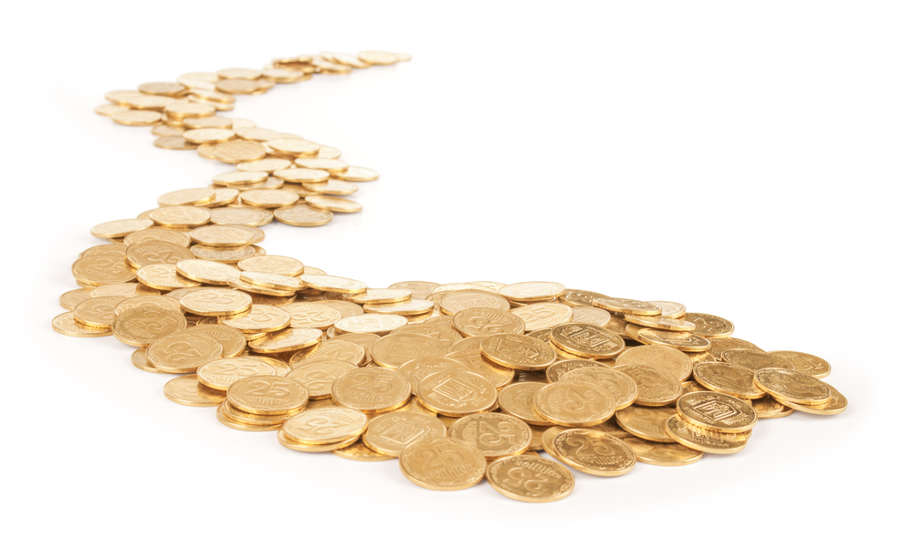 trail of gold coins
