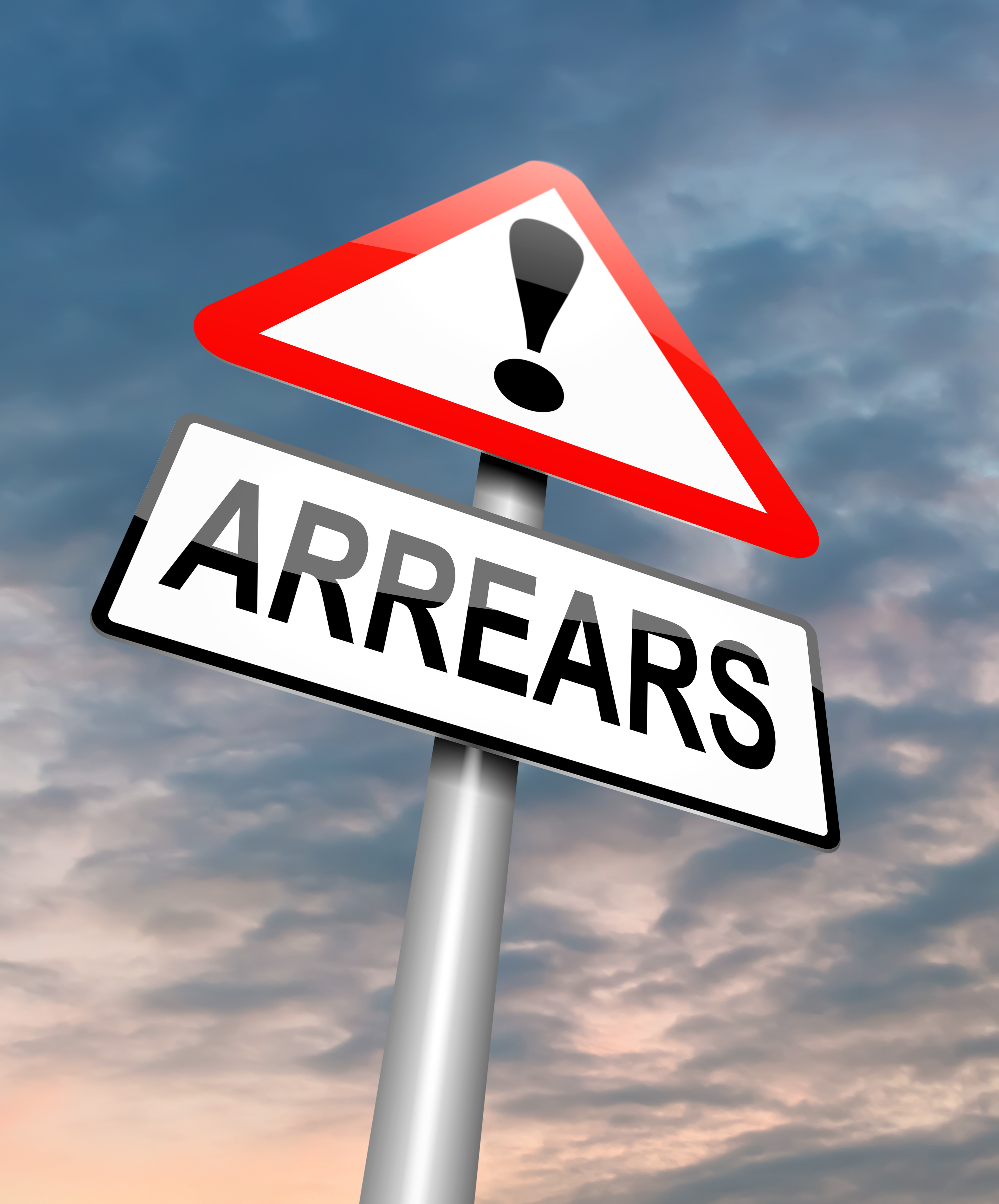 mortgage arrears sign